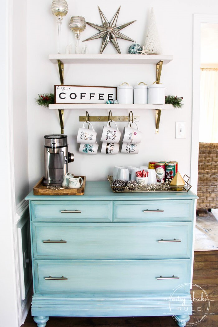 6. SIMPHOME.COM Old Dresser into a Coffee Bar