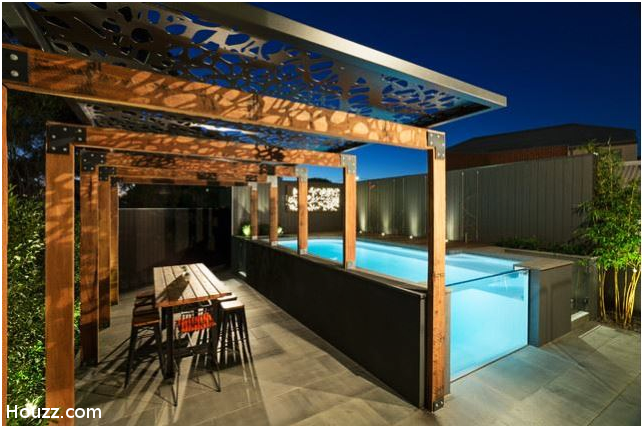 6.Another above ground pool with glass idea via Simphome