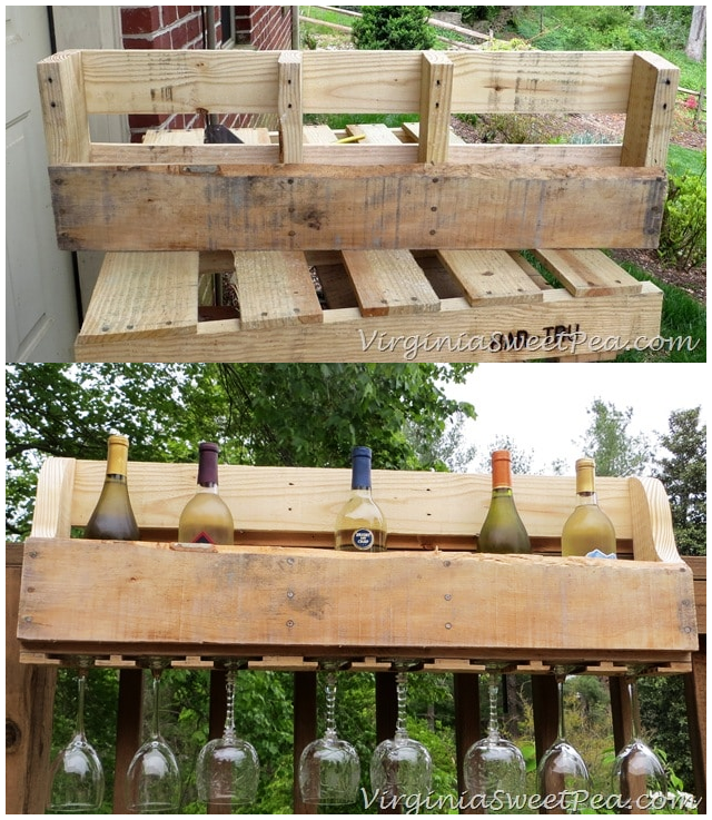 6.SIMPHOME.COM 10 DIY Outdoor Wood Projects Pallet Wine Rack