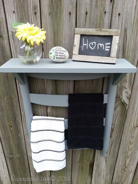 7. SIMPHOME.COM An Old Chair into a Towel Rack