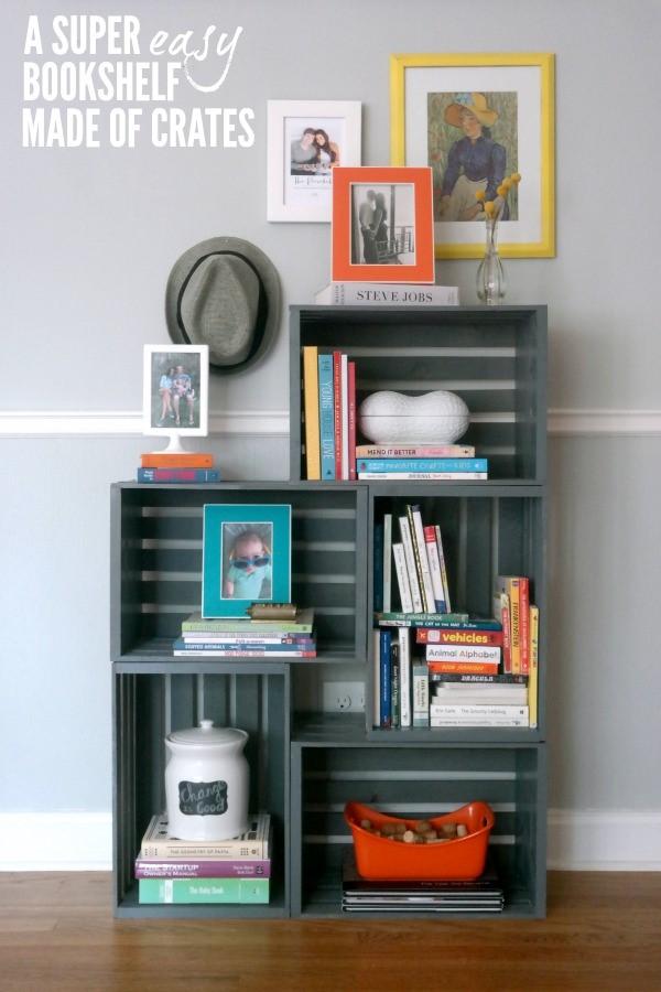 7.SIMPHOME.COM Wooden Crate Bookshelves