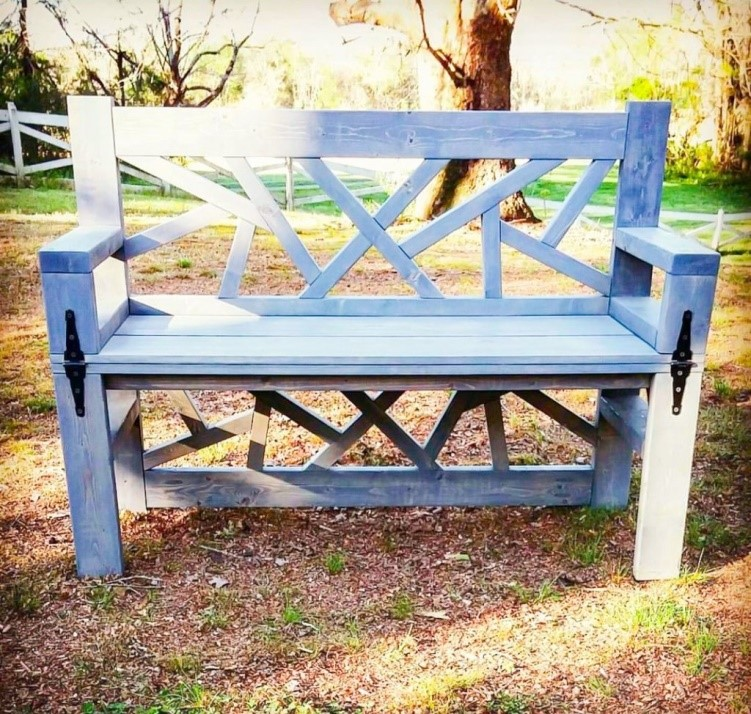 8.SIMPHOME.COM 10 DIY Outdoor Wood Projects Bench and Coffee Table for Your Patio
