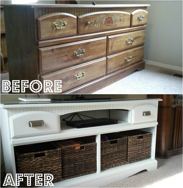 8.SIMPHOME.COM An Old Dresser into a TV Stand