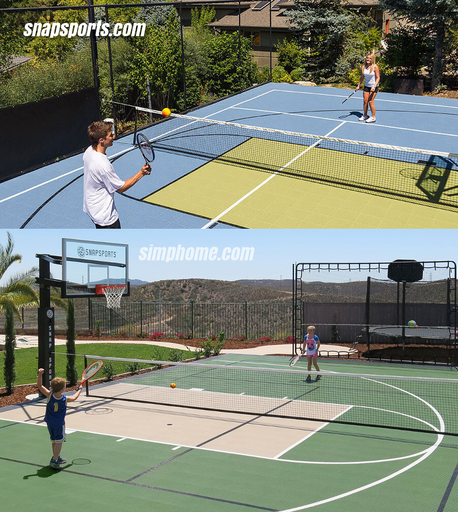 9. SIMPHOME.COM Greeny Tennis court