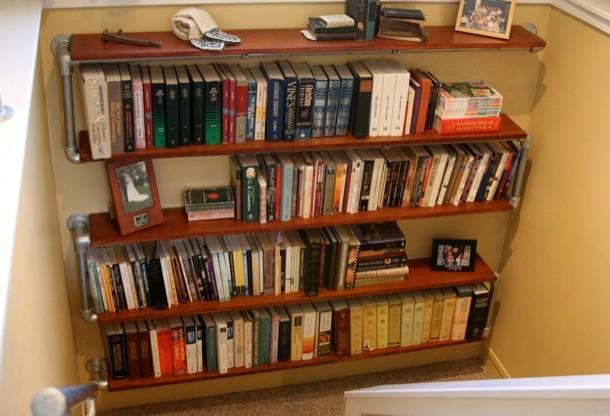 9. SIMPHOME.COM S Shaped Wall Mounted Bookshelf