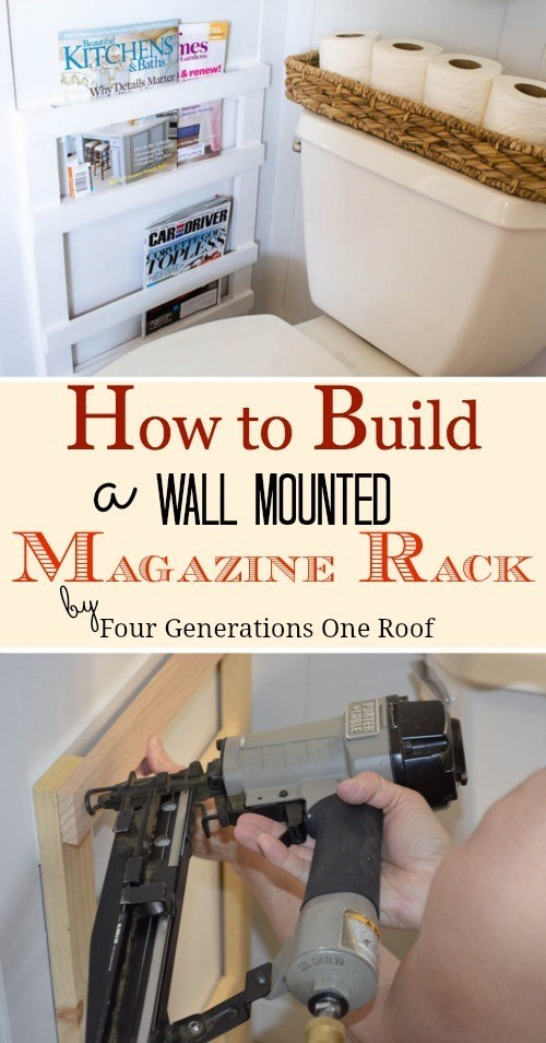 9. Wall Mounted Magazine Rack via SIMPHOME.COM