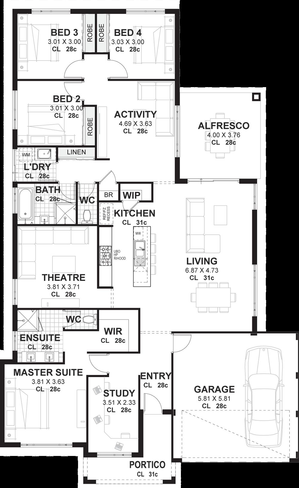 9.SIMPHOME.COM 4 bedroom house plans home designs perth vision one homes.jpg
