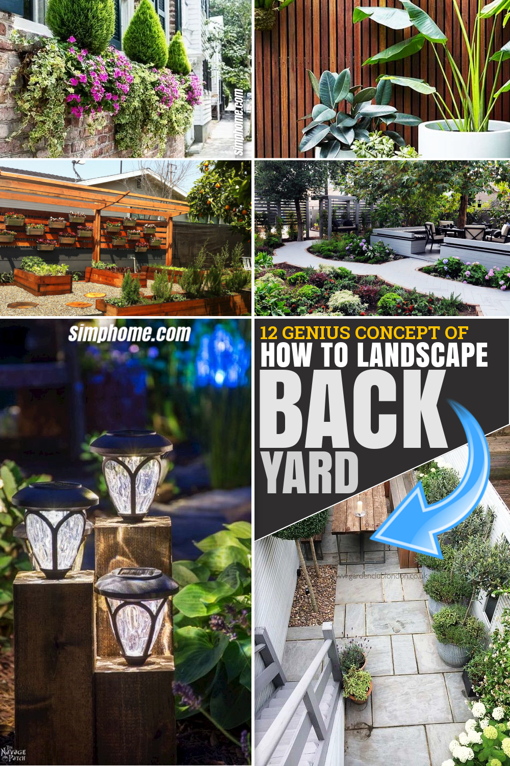 From SIMPHOME.COM 12 Genius Concepts of How to Make Landscape Ideas For Backyard Pinterest Featured Image