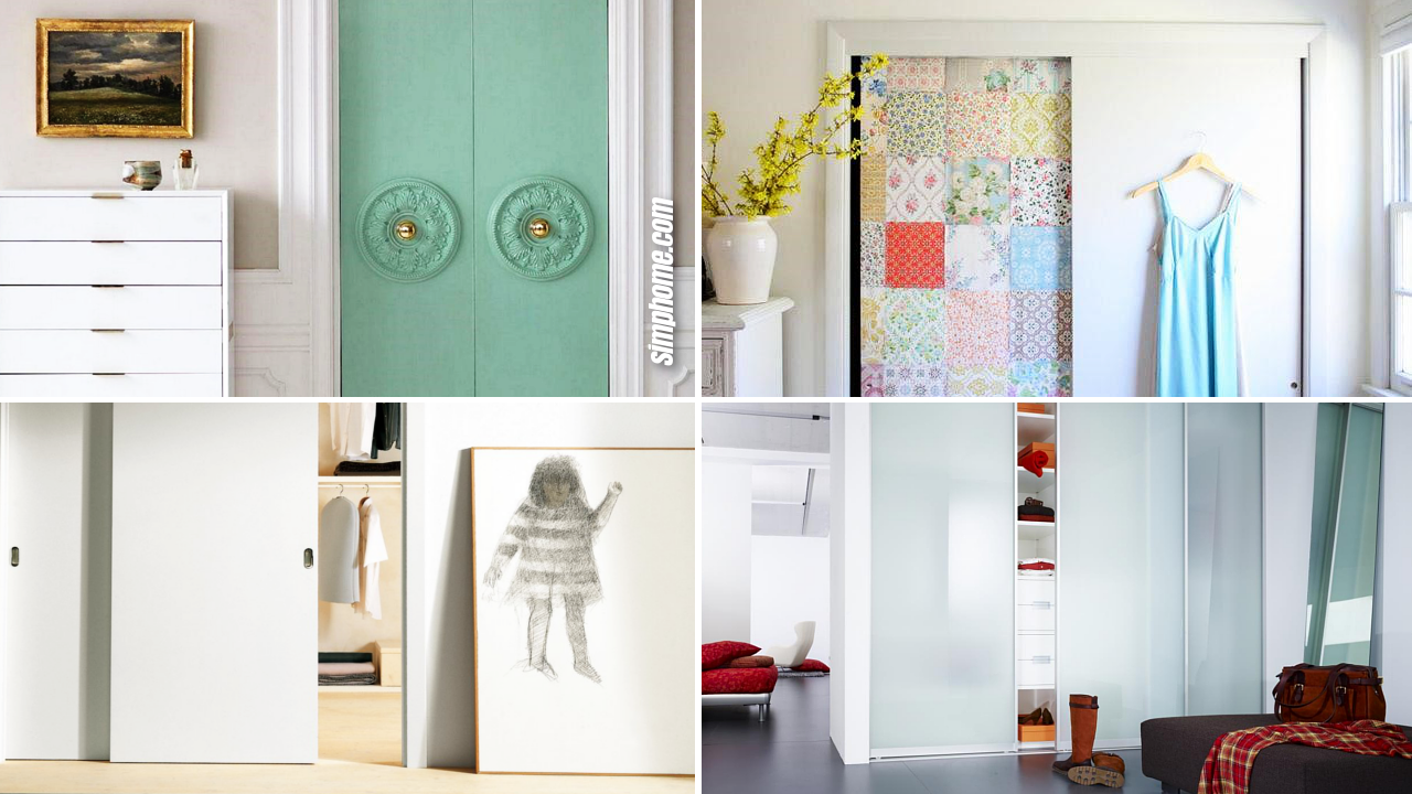 How to Makeover Modern Closet Doors For Bedrooms via SIMPHOME.COM