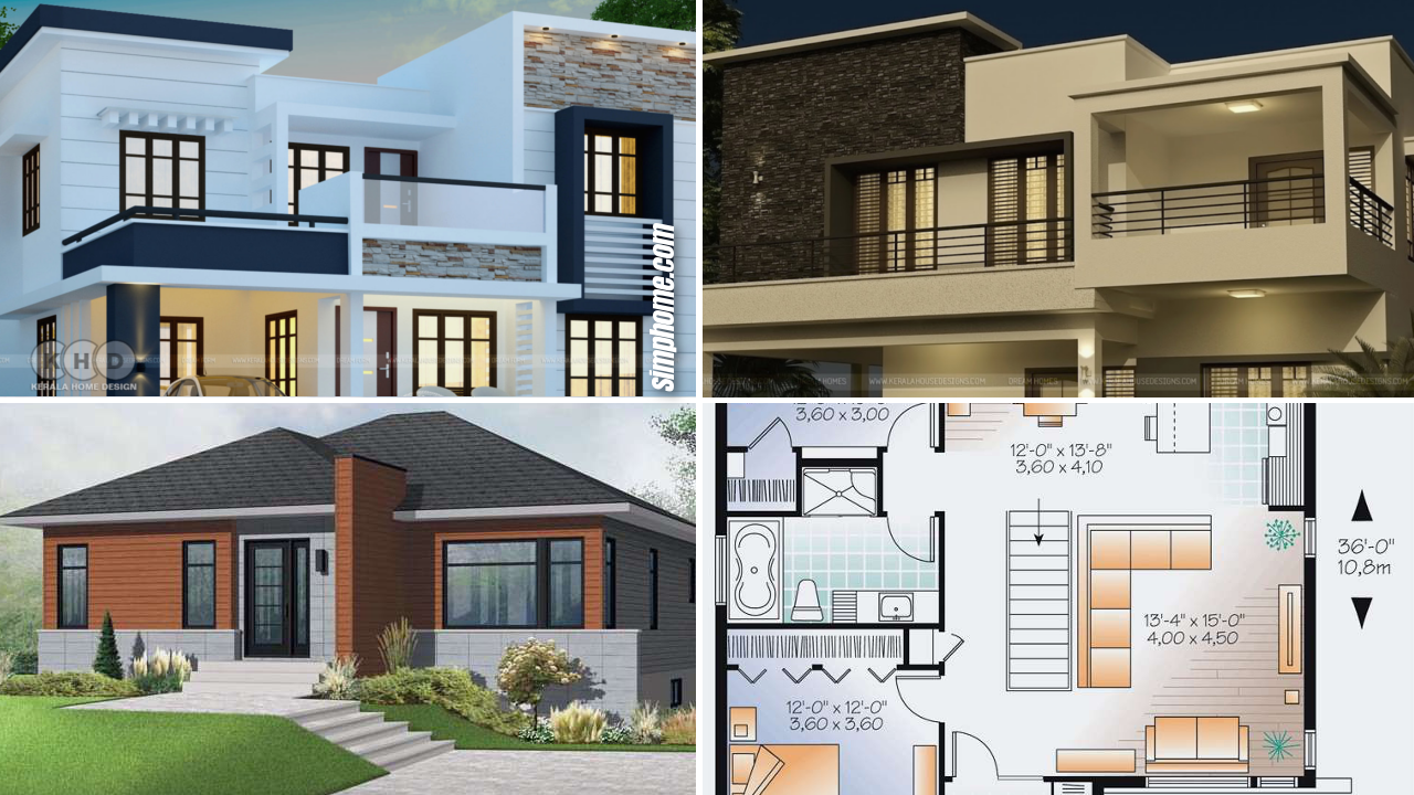 12+ Cool Concepts of How to Upgrade 4 Bedroom Modern House Plans - Simphome