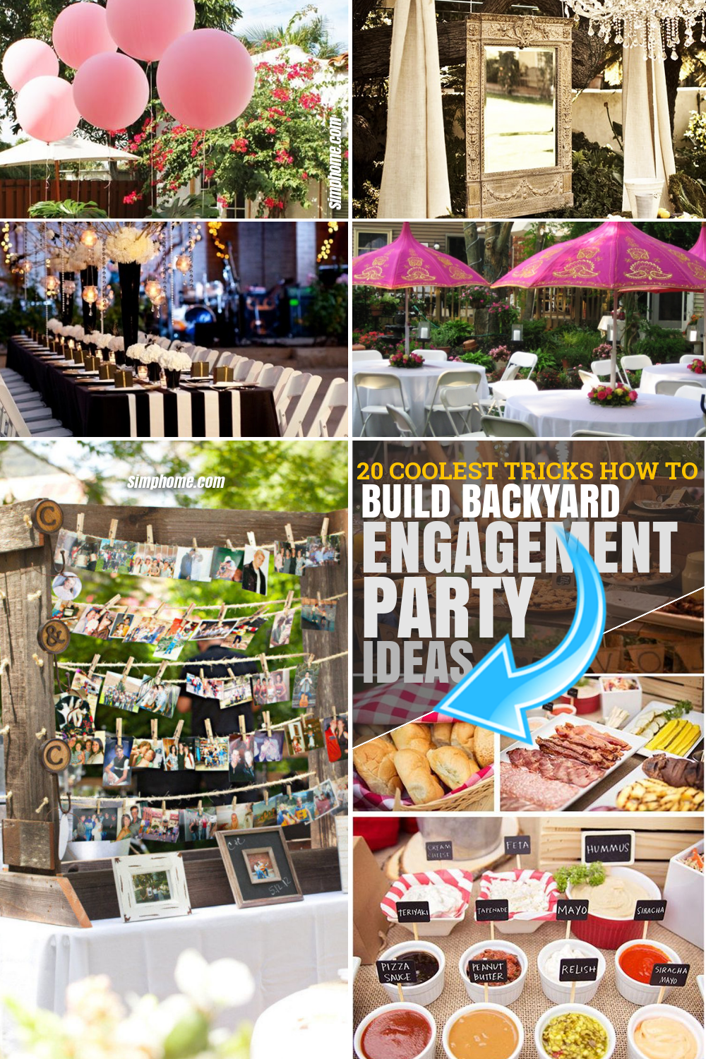 SIMPHOME.COM .How to Build Backyard Engagement Party Ideas.Pinterest Featured