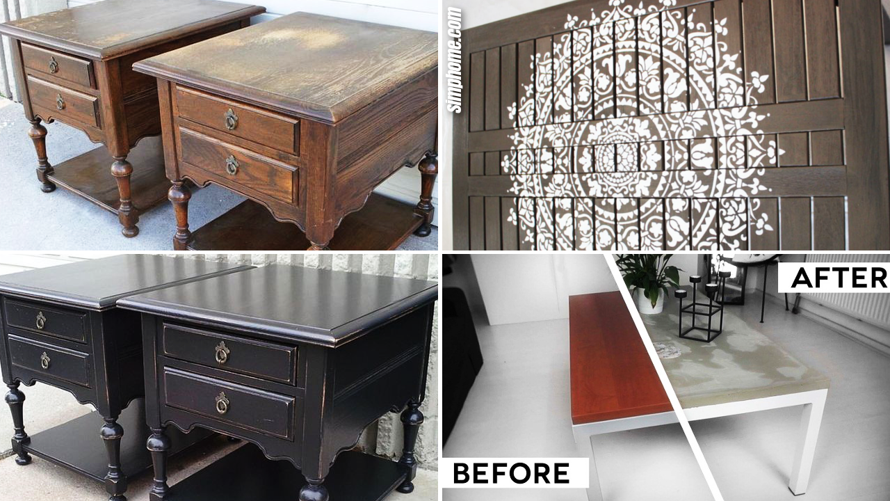 SIMPHOME.COM 10 Before and After Wooden Table Makeover Projects Featured Image