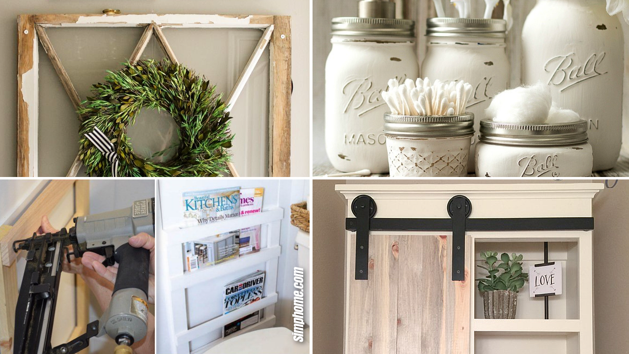 SIMPHOME.COM 10 DIY Rustic Bathroom Decor Ideas Featured Image