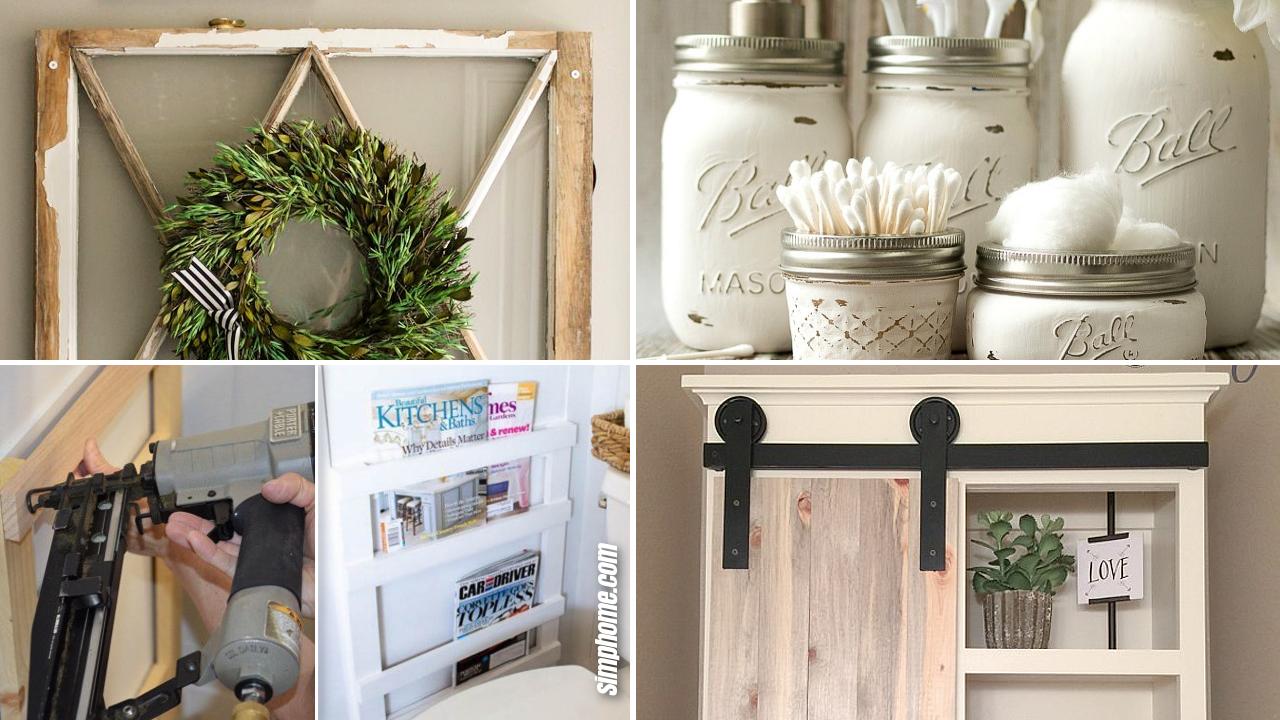 SIMPHOME.COM 10 DIY Rustic Bathroom Decor Ideas Featured Image