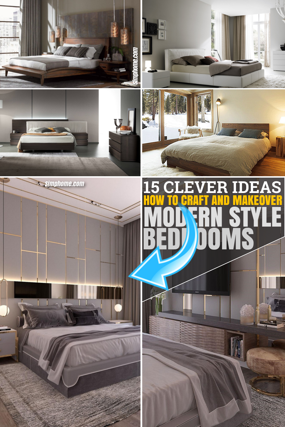 SIMPHOME.COM 10 How to Craft Modern Style Bedroom PINTEREST IMAGE