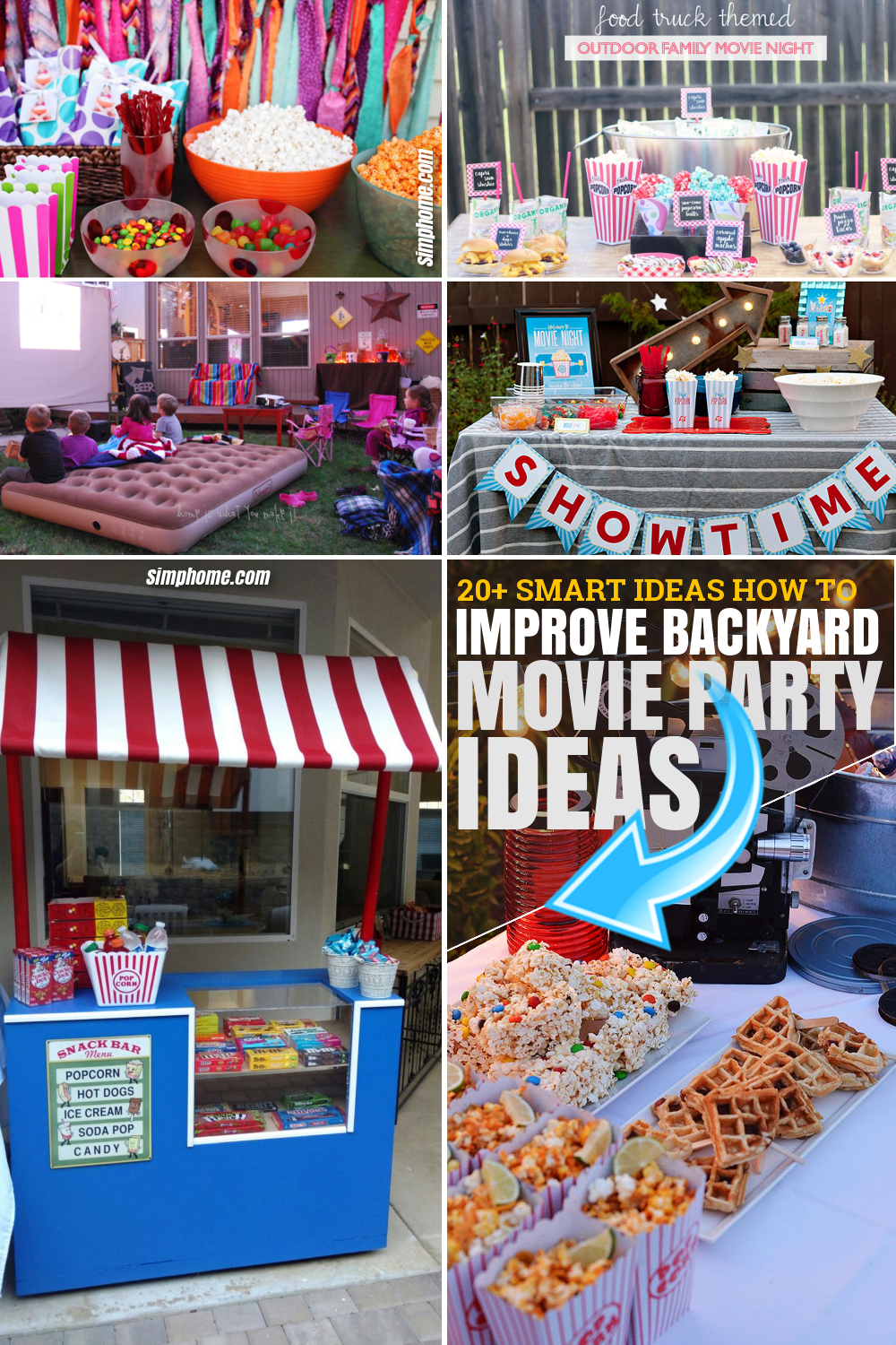 SIMPHOME.COM 10 How to Improve Backyard Movie Party Ideas Featured Image