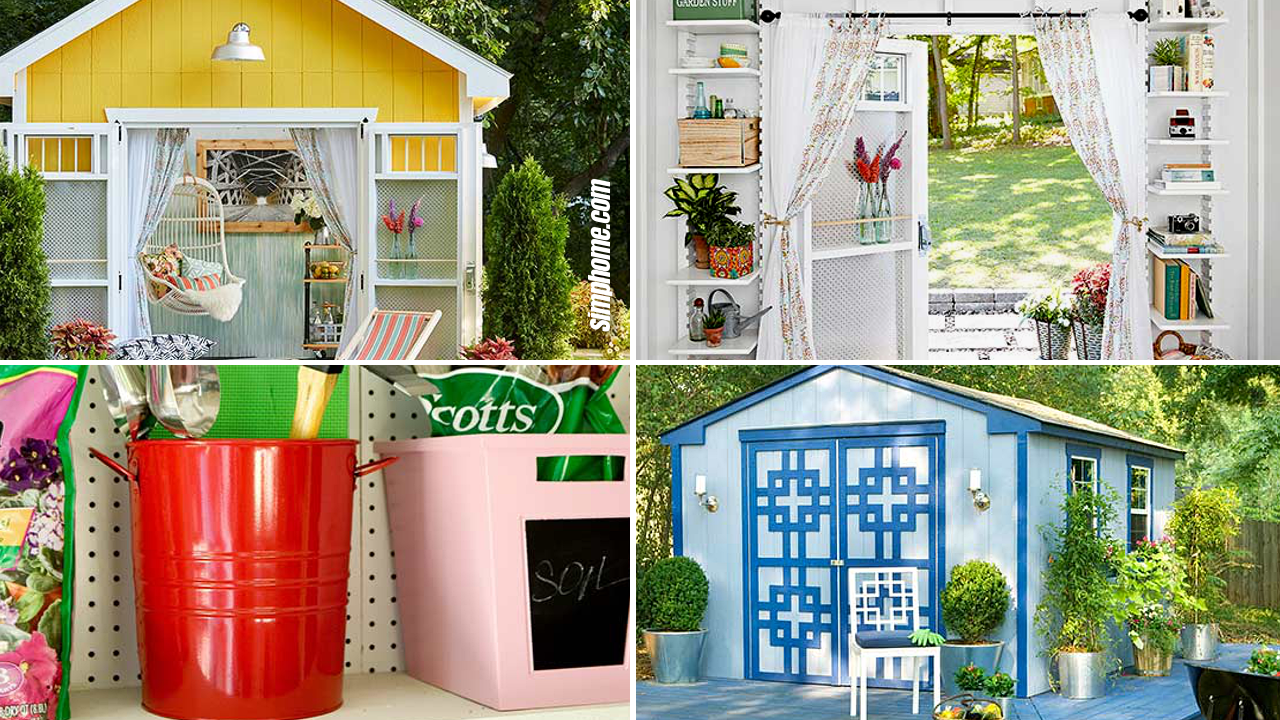 SIMPHOME.COM 10 How to Makeover Small Backyard Shed Ideas Featured Image