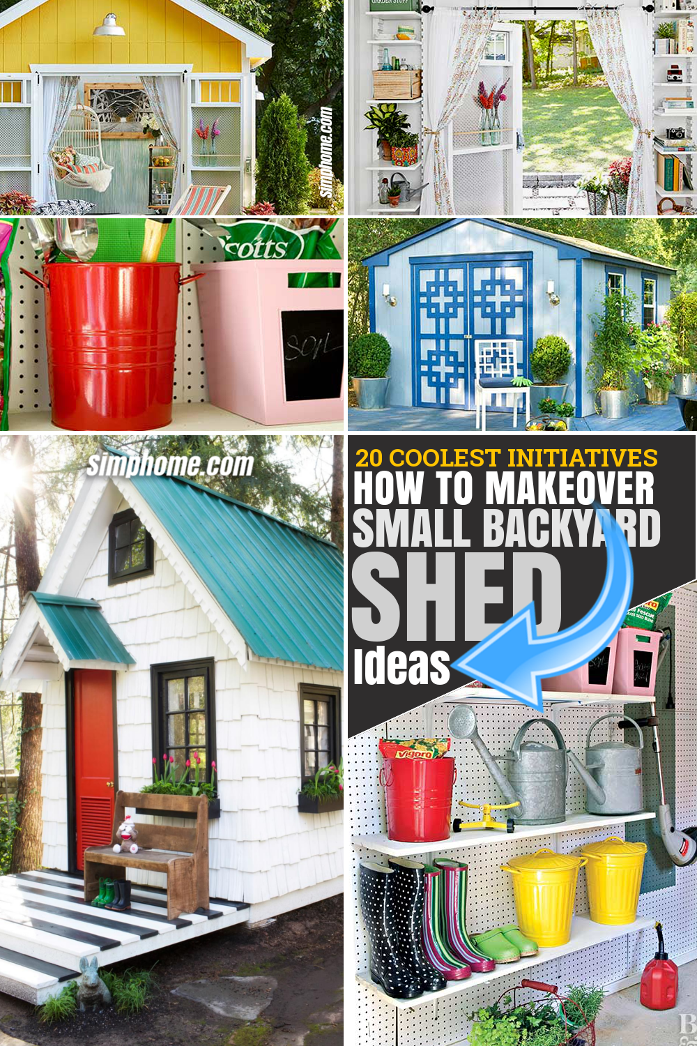 SIMPHOME.COM 10 How to Makeover Small Backyard Shed Ideas Featured Pinterest Image