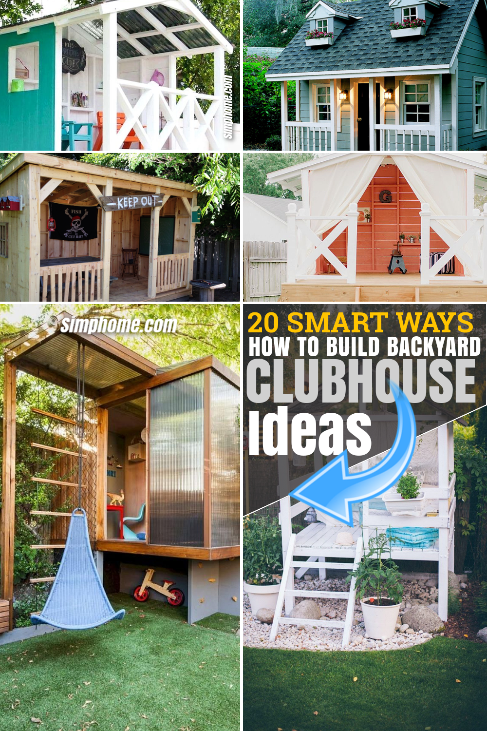 SIMPHOME.COM 10 How to Makeover Small Backyard Shed Ideas Poster Pinterest Image