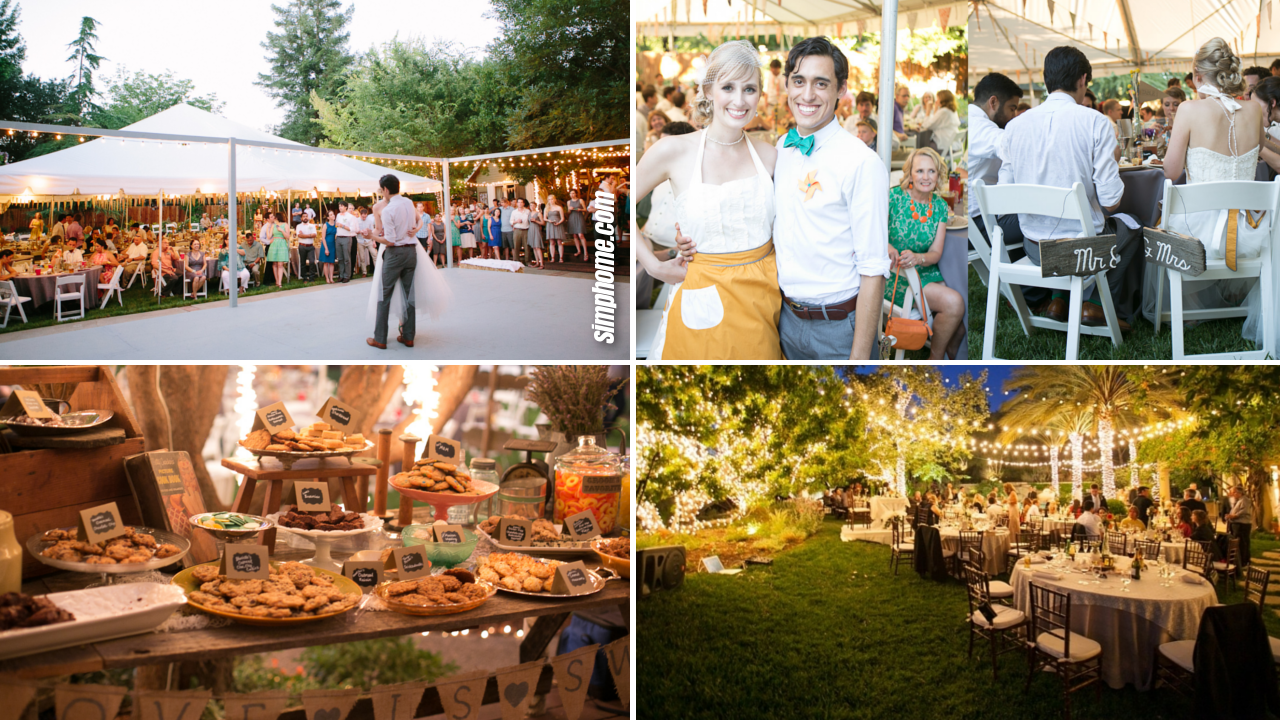 20+ Ideas How to Build Backyard BBQ Wedding Reception Ideas - Simphome