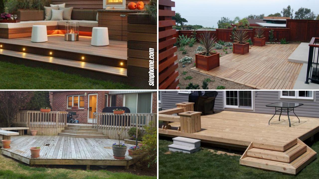 SIMPHOME.COM 10 Ideas How to Makeover Cheap Backyard Deck Ideas