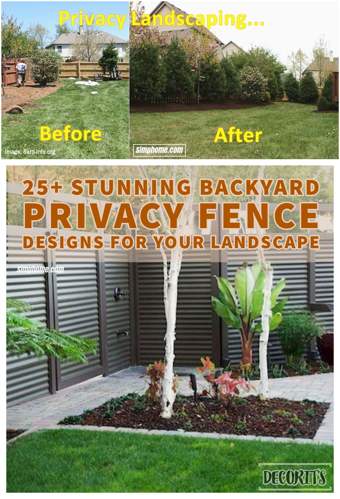 SIMPHOME.COM 10 Ideas how to make backyard privacy landscaping Privacy Landscaping Idea