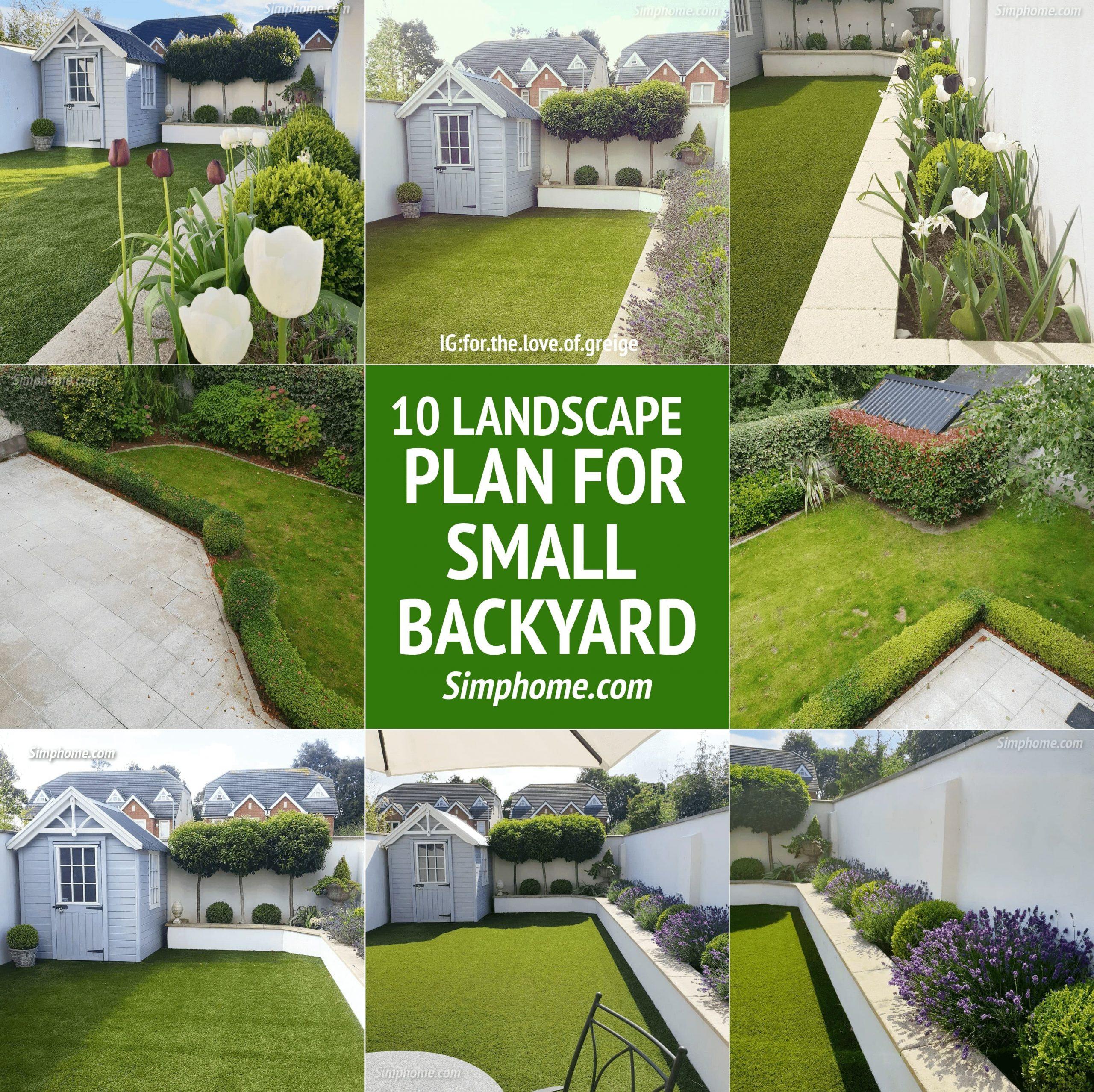 SIMPHOME.COM 10 Landscape Plan for Small Backyard