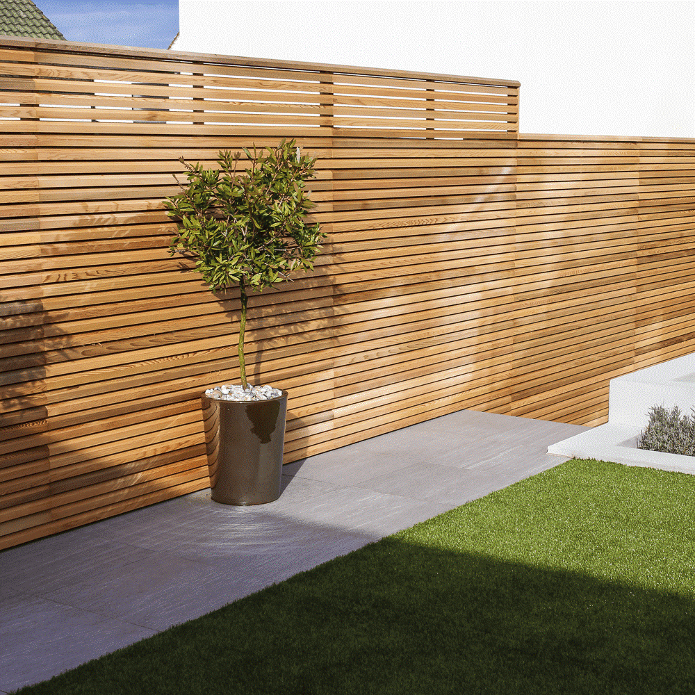 SIMPHOME.COM 10 Tricks How to Upgrade Wood Fence Ideas for Backyard 8.Contemporary Wood Wall for Privacy and Style