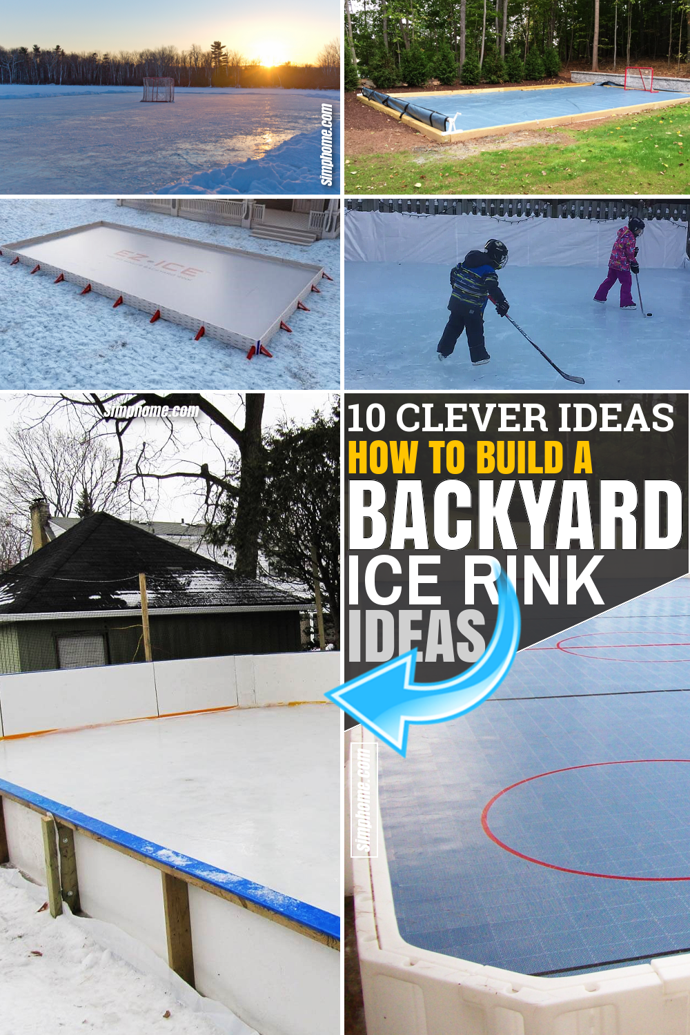 SIMPHOME.COM 10 Ways how to build a backyard ice rink ideas Featured Pinterest Image