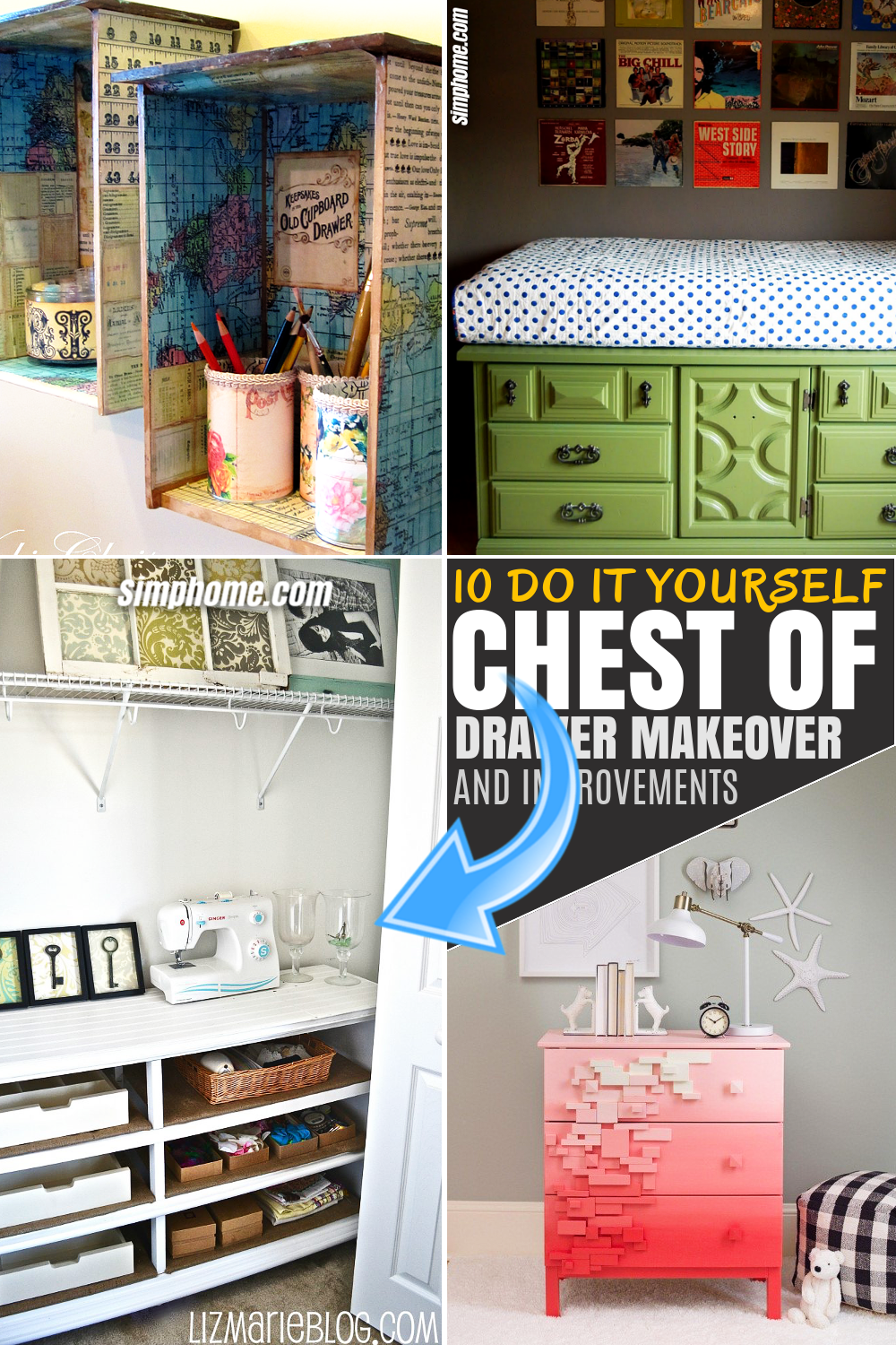 SIMPHOME.COM 10 unique chests of drawers' makeover and improvement ideas Featured Image
