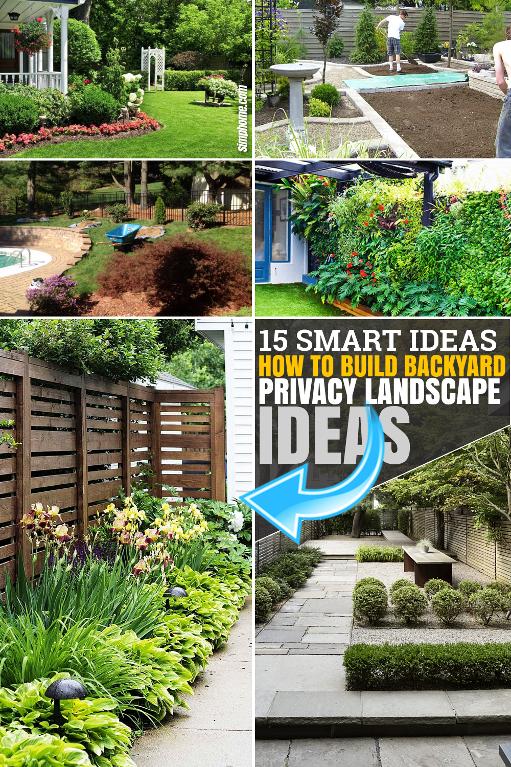 SIMPHOME.COM 15Ideas How to Make Backyard Privacy Landscaping Featured Image