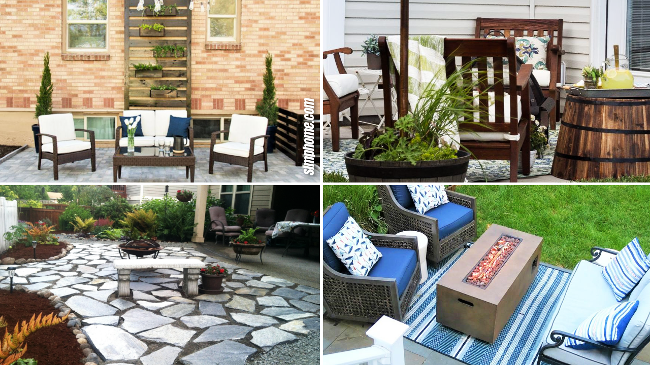 SIMPHOME.COM 20 Genius Ideas How to Make Concrete Patio Ideas for Small Backyards