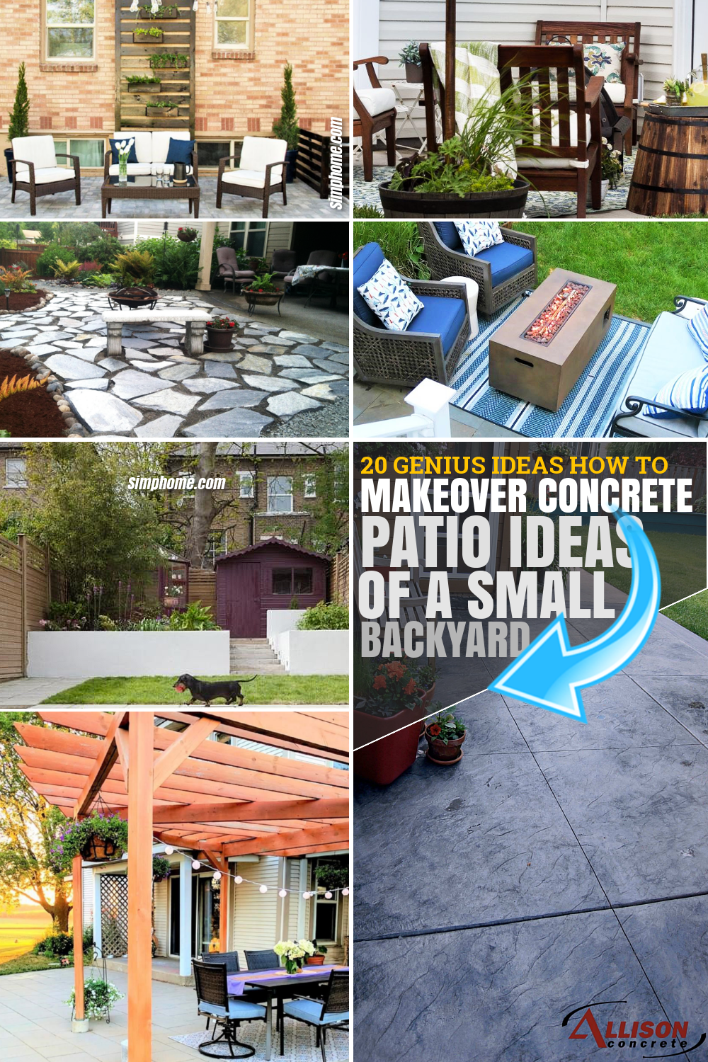 SIMPHOME.COM 20 IDEAS How to Make Concrete Patio Ideas for Small Backyards