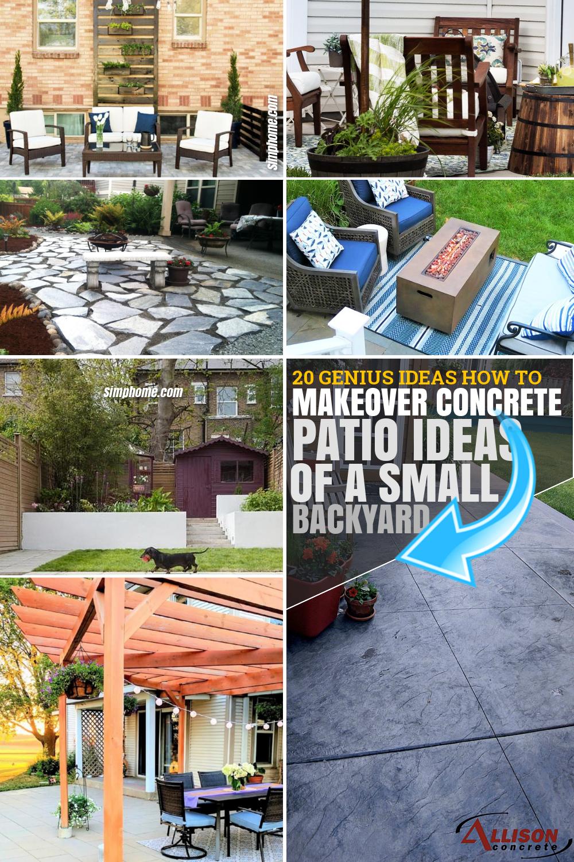 SIMPHOME.COM 20 IDEAS How to Make Concrete Patio Ideas for Small Backyards
