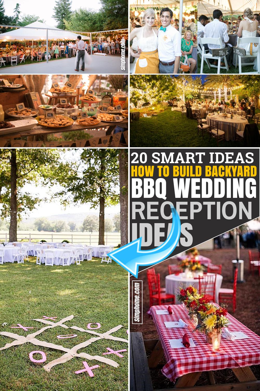 SIMPHOME.COM 20 Ideas How to Build Nice Backyard BBQ Wedding Reception Ideas Featured Pinterest