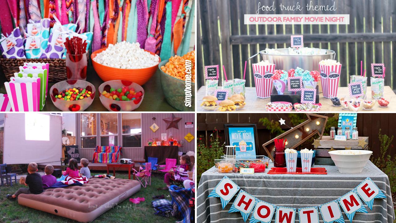 SIMPHOME.COM 20 Ways How to Improve Backyard Movie Party Ideas