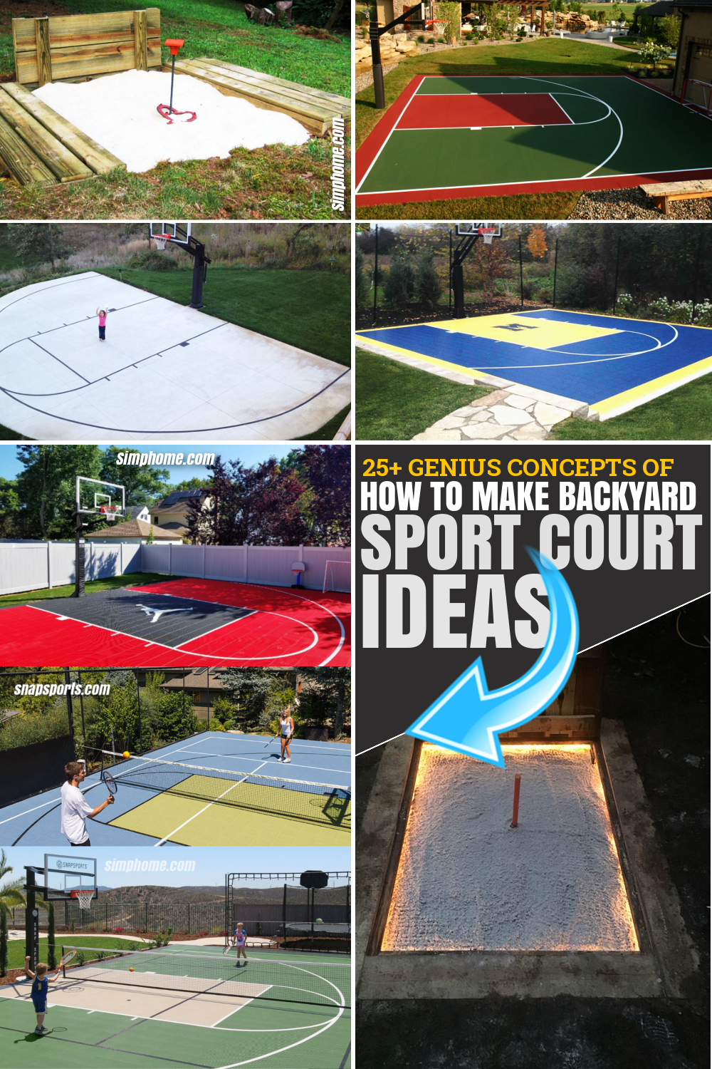 SIMPHOME.COM 30 Genius Concepts of How to Make Backyard Sport Court Ideas Featured Pinterest Image