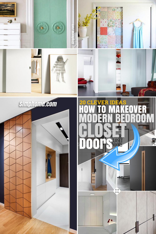SIMPHOME.COM . HOW TO MAKEOVER MODERN BEDROOM CLOSET DOORS