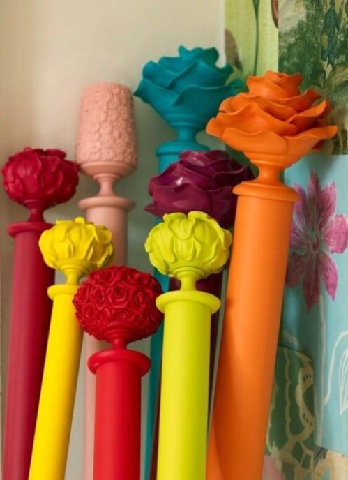 1. SIMPHOME.COM A Colorful Curtain Rods