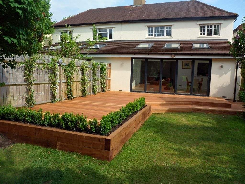 14.SIMPHOME.COM A backyard deck ideas awesome wonderful garden decking ideas