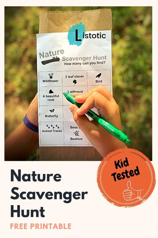 2.SIMPHOME.COM Nature Scavenger Hunt
