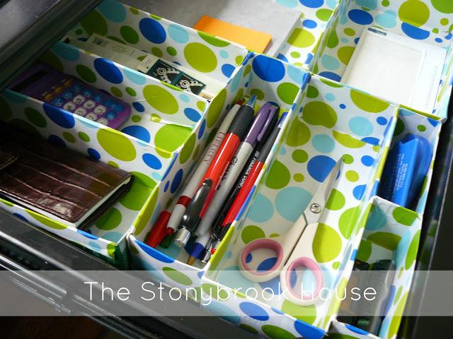 2.Simphome.com Cereal Box Drawer Organizer