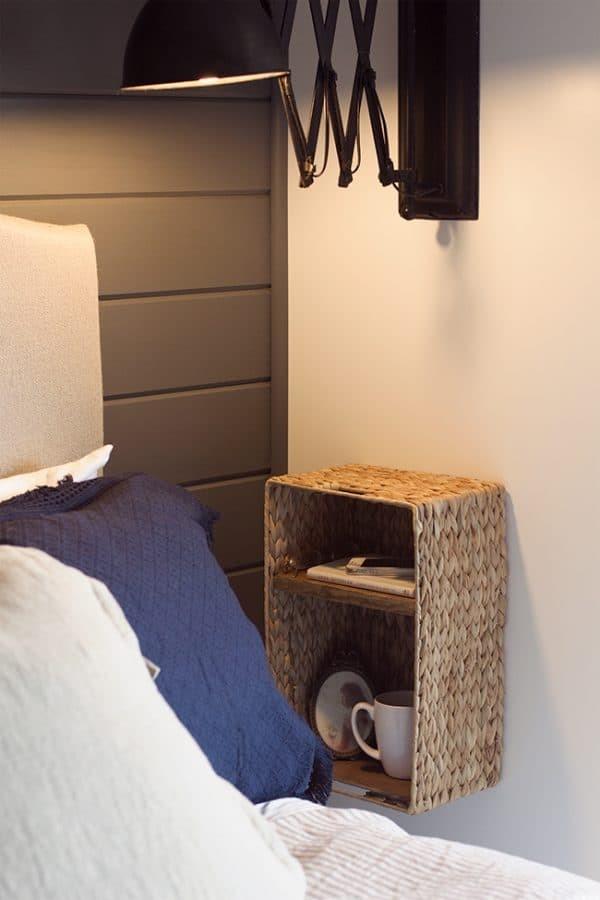 2.Simphome.com Foolproof Bedside Storage
