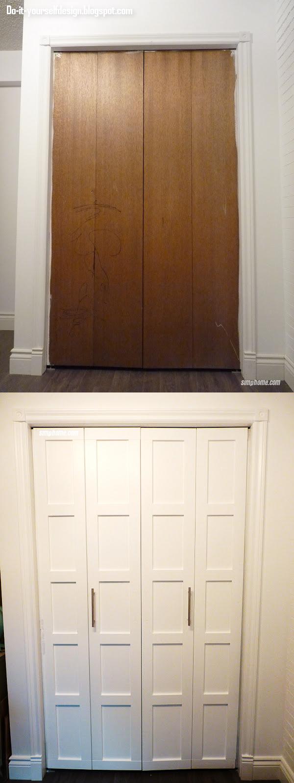 3. SIMPHOME.COM Add Trims to Your Bi Fold Cupboard Doors
