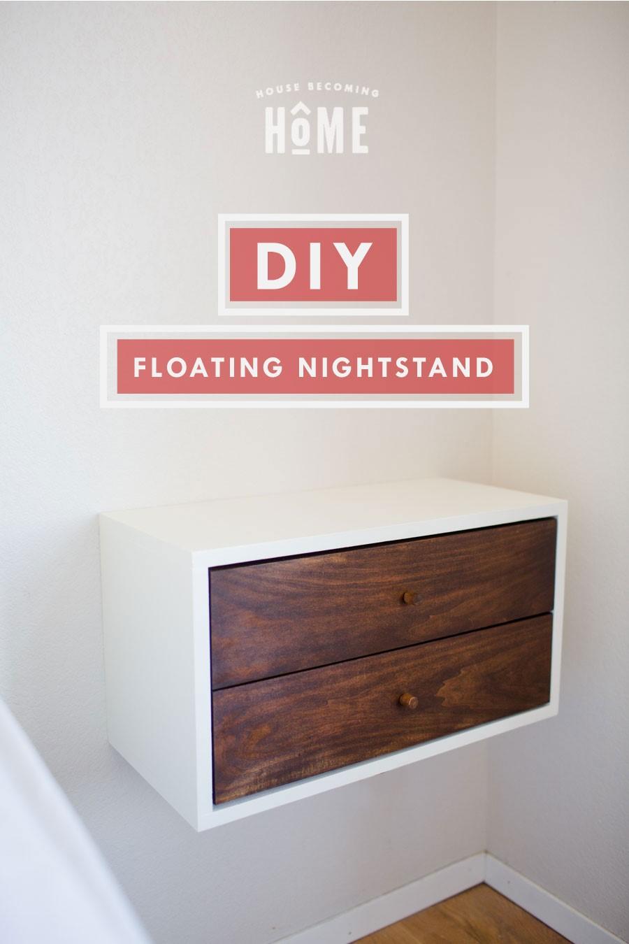 3.Simphome.com Floating Nightstand