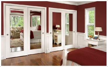 4. SIMPHOME.COM Mirrored Built In Cupboard Doors