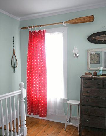 4. SIMPHOME.COM Oar Curtain Rod
