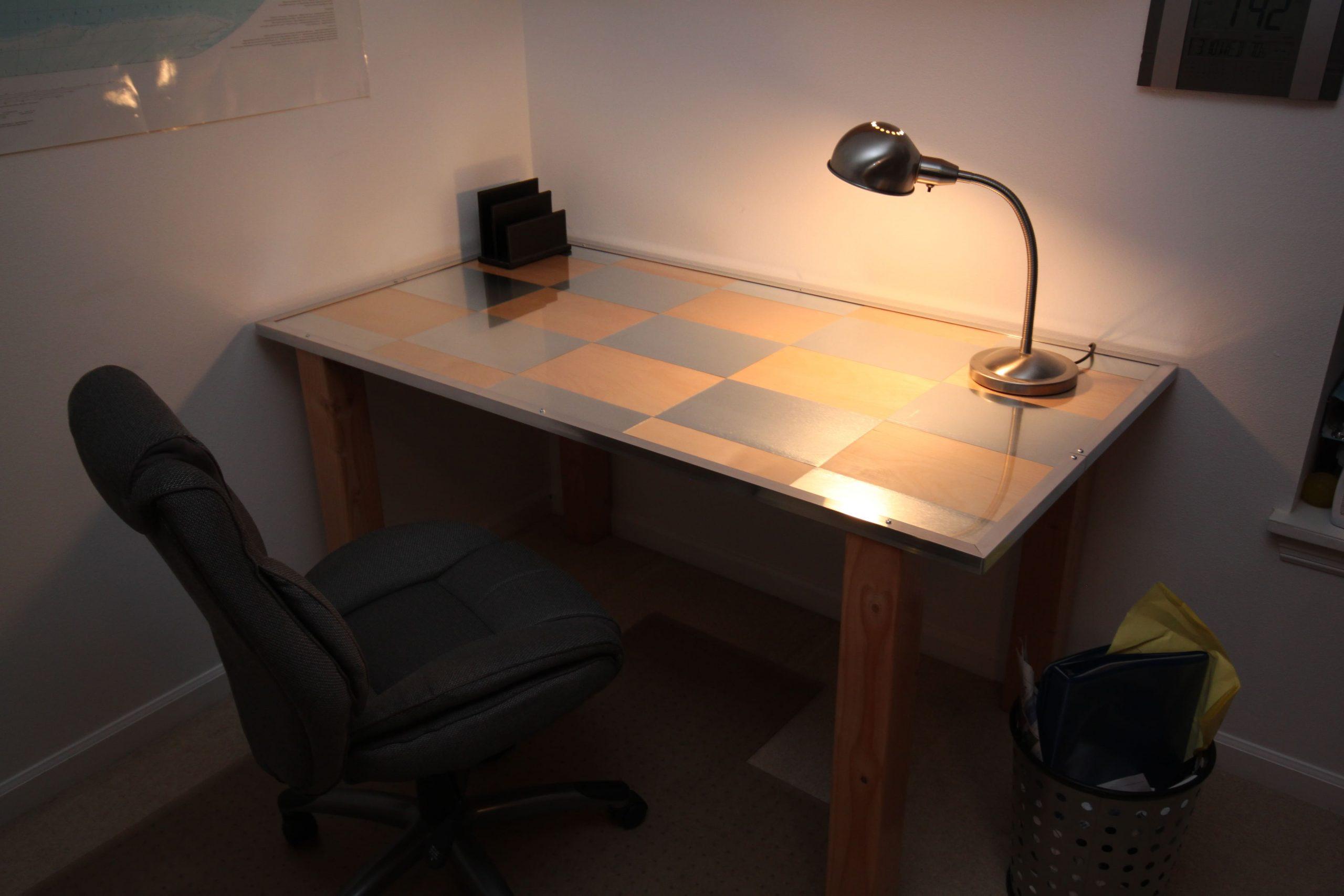 4.SIMPHOME.COM Birch Aluminium Desk