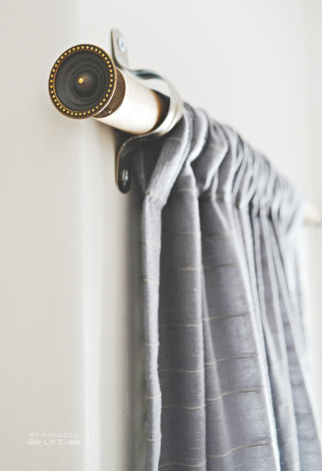 5. SIMPHOME.COM A Wooden Dowel Curtain Rod