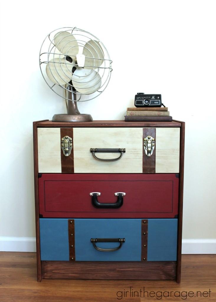 6. SIMPHOME.COM Suitcase Look Ikea Dresser Hack